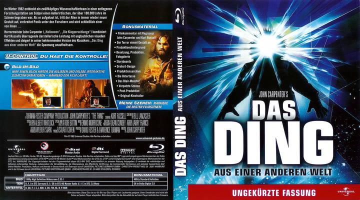 Her er coveret på den tyske blu-ray utgivelsen, med det  noe artige navnet DAS DING.