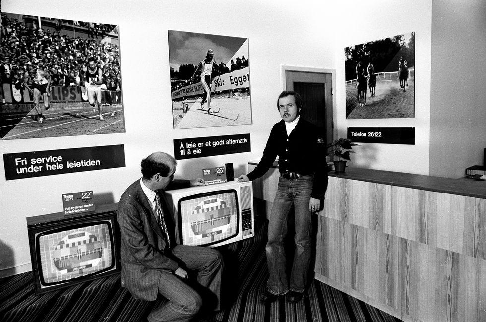 70-tallet. Da hadde mange fremdeles svart/hvitt-tv.