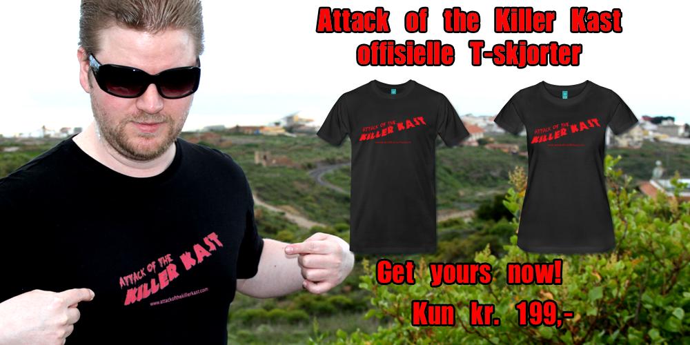 Lyst til å bli like awesome som Jørgen her? Bestill din Attack of the Killer Kast t-skjorte i dag!