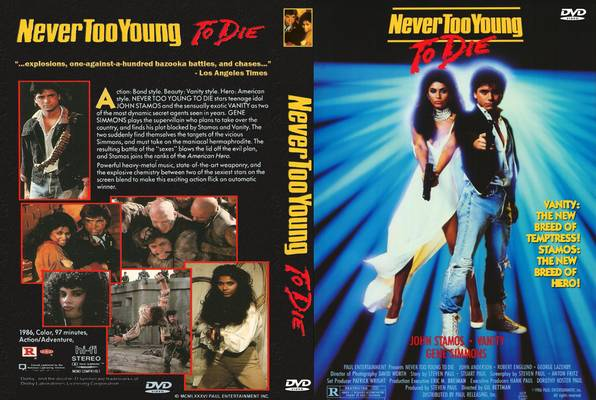 VHS cover Never Too Young To Die