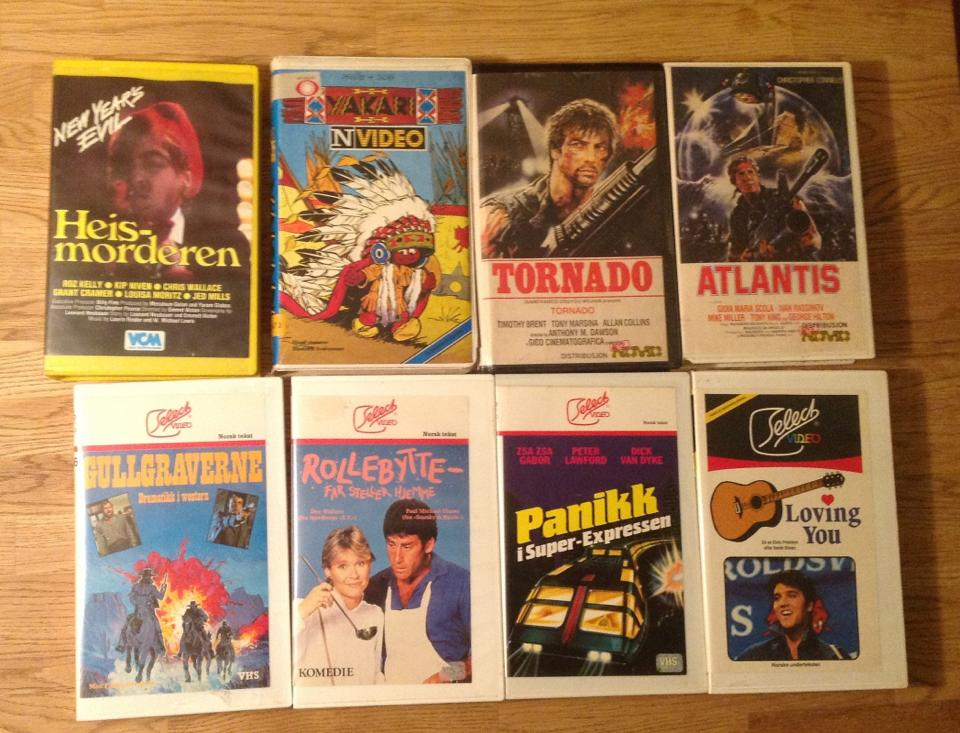 Beta-kassettene var å finne i filmhyllene tidlig på 80-tallet. Foto: Per Aune.