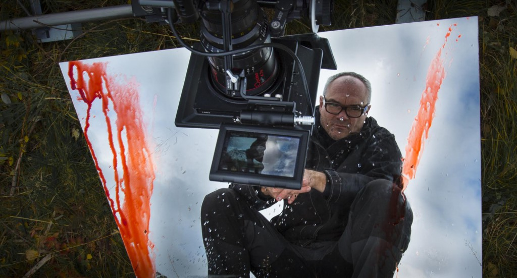 Pål Øie himself, med kamera og blod.